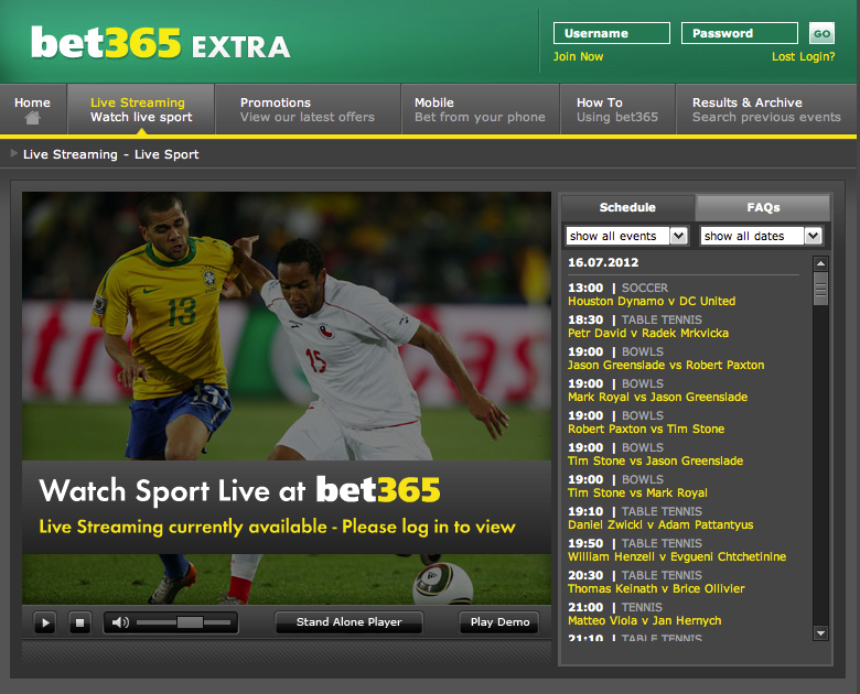 Bet365 Live betting In Play Live Streaming