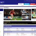 Skybet football homepage from new website