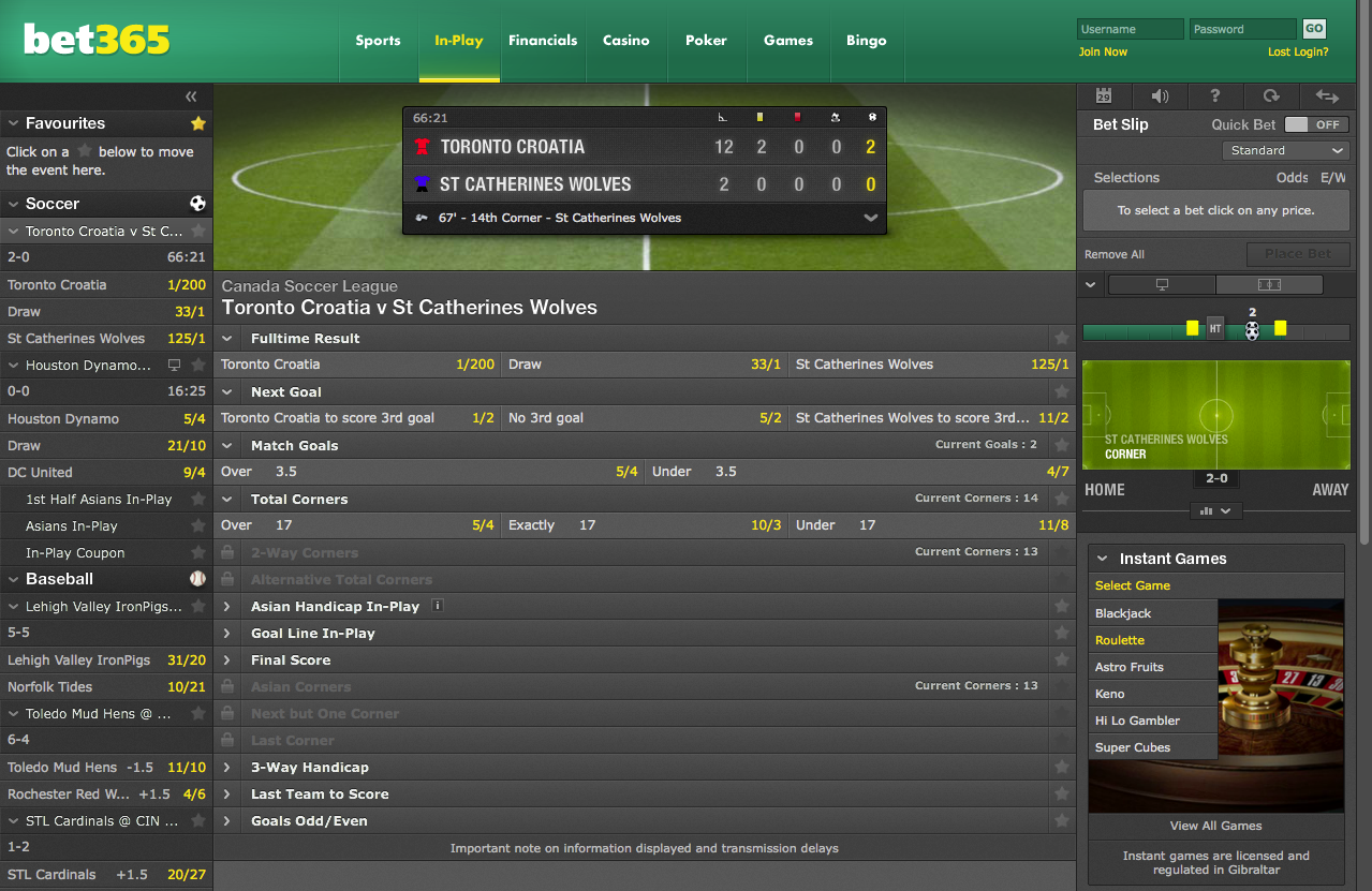 Bet365 Live Betting Bet In Play